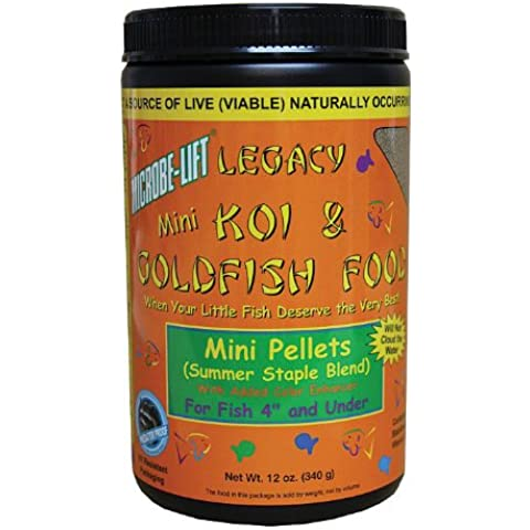 Ecological Labs MLLMPSM Legacy Koi and Goldfish Food Mini Pellets, Summer Staple Blend
