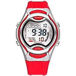 Children boys girls waterproof luminous watches sport digital watch
