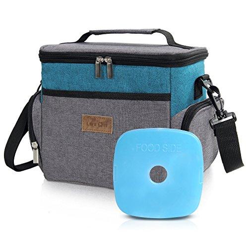 Lifewit borsa termica porta pranzo per adulti o studenti con un pacchetto di ghiaccio riutilizzabile, per ufficio/scuola / picnic (blu)