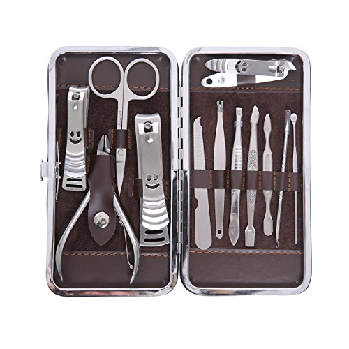 Topskymall 12pezzi personale tagliaunghie in acciaio INOX cura delle unghie