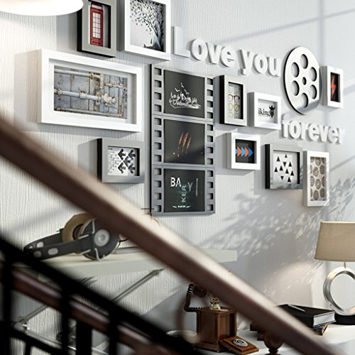 TING- 10 Multi Picture Frame Set Estilo Industrial