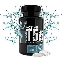 ACTIVE T5 PLUS+ - Brûleur de Graisse Abdominale Extrême - Thermogène Puissant Riche en Caféine, Thé Vert, L-Carnitine, L-Tyrosine, Piment de Cayenne, Vitamines et Minéraux - Booste l'Énergie, la Vitalité et l'Endurance - Complément Alimentaire 100% Naturel - 60 Gélules - 1 Mois - par MaxMedix