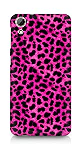 Amez designer printed 3d premium high quality back case cover for HTC Desrie 826 (pink leopard )