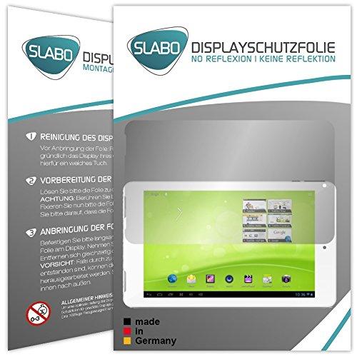 Slabo 2 x Bildschirmschutzfolie TrekStor SurfTab ventos 7.0 HD Schutzfolie Folie No Reflexion|Keine Reflektion MATT - Entspiegelnd MADE IN GERMANY