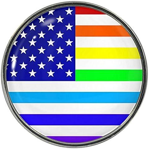 Arco iris Metal de bandera de Estados Unidos imán para nevera