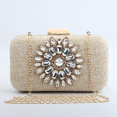 pwne L. In West Frau'S Modische Sun Diamond Eine Handtasche Mit Einem Einzigen Schulter Eine Kette Abendessen Tasche Beige