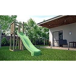 Chalet et jardin 05-F703483 Funny Escalade Aire de Jeux en Bois Bois Naturel 289 x 82 x 210 cm