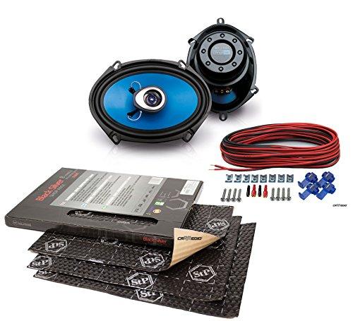 Mazda MX5 (98-05) Sinustec Lautsprecher Boxen 5x7 Vordere Türen mit Premium Dämmung STP Black Silver Shop Pack (8 Panels je 375x265x1,8mm) (Mazda 3 Sound System)