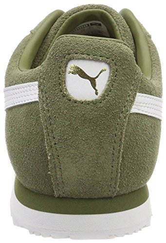 Puma Roma Suede, Sneakers Basses Mixte Adulte Vert (Capulet Olive-puma White-puma Team Gold-amazon Green)