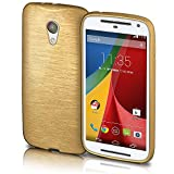 Motorola Moto G2 Hülle Silikon Gold [OneFlow Brushed