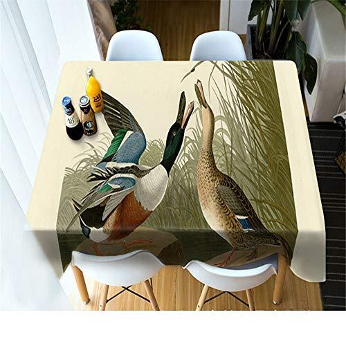 QWEASDZX Mantel Moda Creativa Protección del Medio Ambiente Poliéster 3D Impresión Digital Mantel Rectangular Adecuado para Interiores y Exteriores 90x180cm