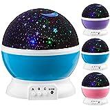 Goods & Gadgets Next Generation 360° LED Starlight, Sternenlicht Projektor Sternen Einschlafhilfe Baby Nachtlicht für Kinder - blau