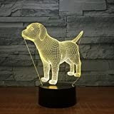 YXYH Night Light,Night Lights,Motif Lamp,Theme Lamp VisionThree-dimensional Touch Light Child Gift Creative Acrylic Table Lamp 3DUSB Light Fixture Colorful Touch LED Lights 《Pet Dog》modeling