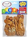 Goldene Luftballons mit Zahl 50 Zahlenballon mit 50 Latexballon zur Dekoration für die Goldene Hochzeit Geburtstag Jubiläum Party oder andere Anlässe