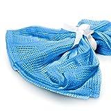 Lumaland Baby Baumwolldecke Erstlingsdecke schadstofffrei perfekte Größe für Säuglinge 100% Baumwolle 75 x 90 cm Blau