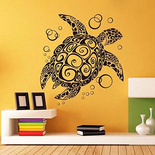 Große Schildkröte Mode Muster Entfernbare Wandaufkleber für Kindergarten Kinderzimmer Kunst Dekoration Vinyl Tapete Aufkleber Wandbilder 56 * 56 cm