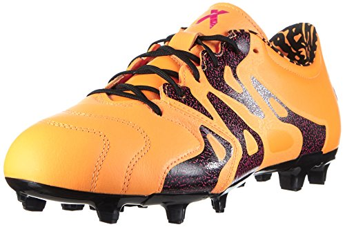 adidas Herren X 15.2 FG/AG Leather Fußballschuhe, Bunt, 40,5 EU Orange (Solar Gold/Core Black/Shock Pink)