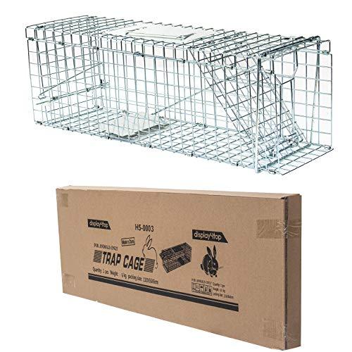 Display4top Gabbia Trappola Professionale per Animali, Catch And Rabbit, Squirrel, Raccoon (94 x 34 x 37cm)