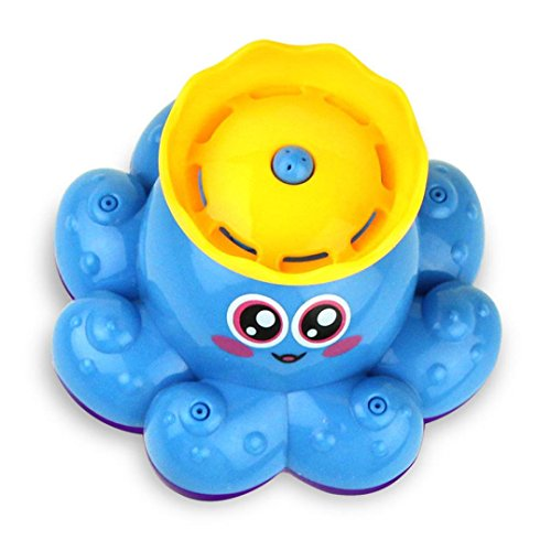 Sprinkler-ente (Mamum Krake Badespielzeug Sprinkler, Sprühwasser Spielzeug Oktopus Wasserpumpsprüher elektronische Badspielwaren one size blau)