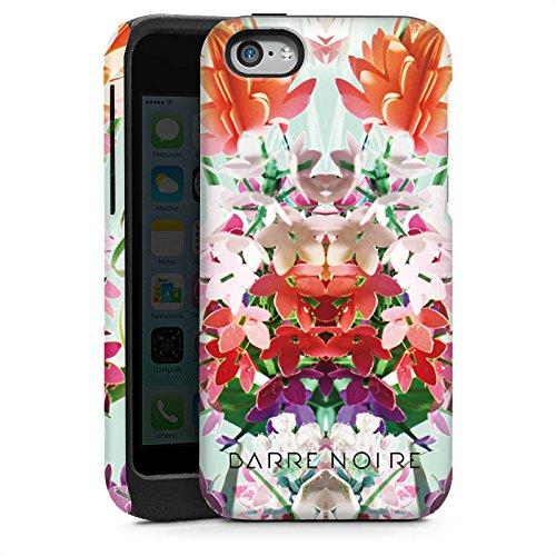 Apple iPhone 4 Housse Étui Silicone Coque Protection Fleurs Fleurs Motif Cas Tough brillant