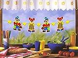 2er Set (=2 Stück) Lustige und dekorative Girlande für Kinderzimmer oder Party Kindergeburtstag - bis 200 cm Breite variierbar (CLOWNS)