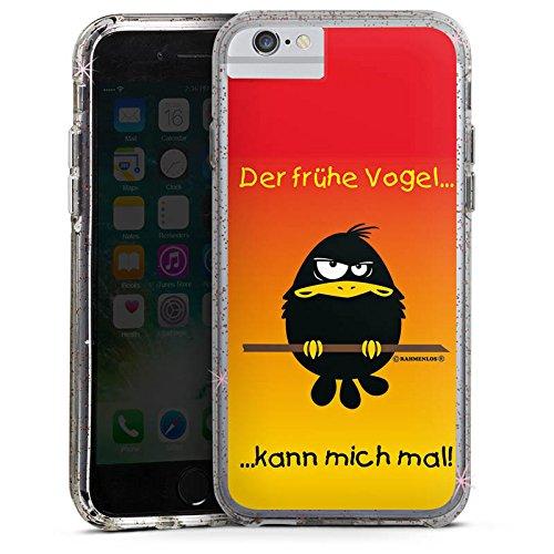 Apple iPhone 6 Plus Bumper Hülle Bumper Case Glitzer Hülle Lustig Funny Humor Bumper Case Glitzer rose gold