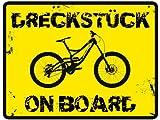 MTB Sticker 'Dreckstück on Board' - 1 Aufkleber – Mountain Bike & Downhill Aufkleber
