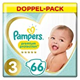 Pampers Premium Protection Windeln, Gr. 3 (6-10kg), Jumbopack, 1er Pack (1x 66 Stück)