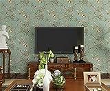Liliya&& Carta da parati giardino retro melo fiori carta da parati carta da parati soggiorno camera da letto sfondo non tessuto carta da parati AB, C