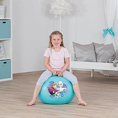 Serigrafiado Salto Pelota, Hopper, hüpfball, Spring Ball, Hopper Ball para Interior & Exterior–wiederaufblasbar, Resistente–Fitness para Niños