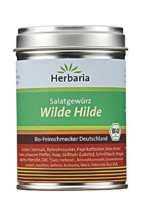 Herbaria Bio Salatgewürz Wilde Hilde (1 x 100 gr) von Herbaria-Kräuterparadies GmbH bei Gewürze Shop