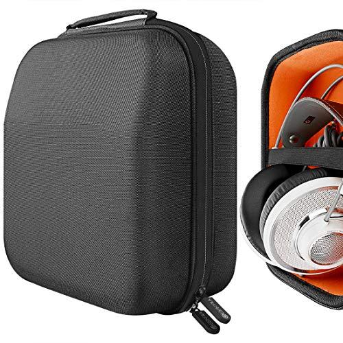 Geekria UltraShell Headphones Case for Sennheiser HD650, HD600, HD598, AKG K701, Q701, Beyerdynamic DT880, DT990 / Gaming Headset Hard Carrying Case/Travel Bag