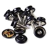 10 x 15mm schwarz 3 Part Druckknopf mit Schraube für schwer Duty Druckknöpfe für Bekleidung und Zubehör hinzufügen sicherer Verschluss zu Jacken,Jeans,Beutel,andere Nähen Projekte von Trimming Shop