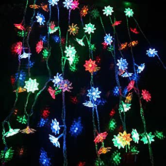 1.2Mx0.95M Red Heart LED String Lamp with 32 LEDs - Christmas & Halloween Decoration