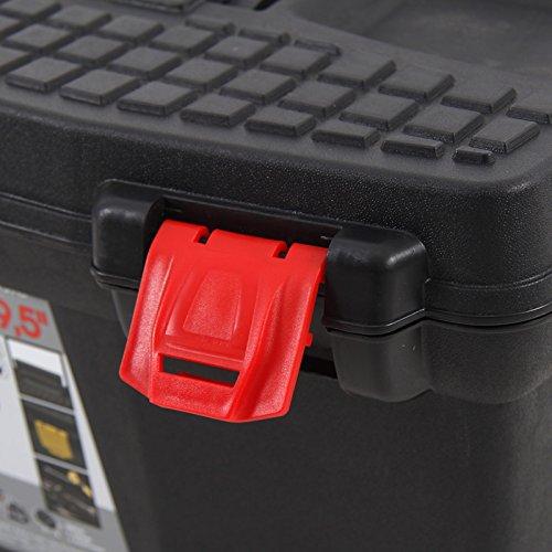 Kunststoff Werkzeugkoffer ERGO Basic 27″, 60x34cm Kasten Werzeugkiste Sortimentskasten Werkzeugkasten Anglerkoffer - 4