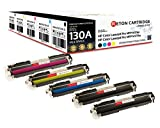 Original Reton Toner, kompatibel, 5er Farbset für HP PRO 100 Color MFP M176 (CF350A, CF351A, CF352A, CF353A), HP 130A Color Laserjet PRO M176N, PRO MFP M177FW, PRO MFP M176, MFP M177