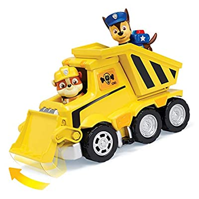 PAW PATROL 6053366 Rubble's Ultimate Rescue Bulldozer with Moving Scoop and Lift-up Dump Bed, for Ages 3 and Up, Multicolour