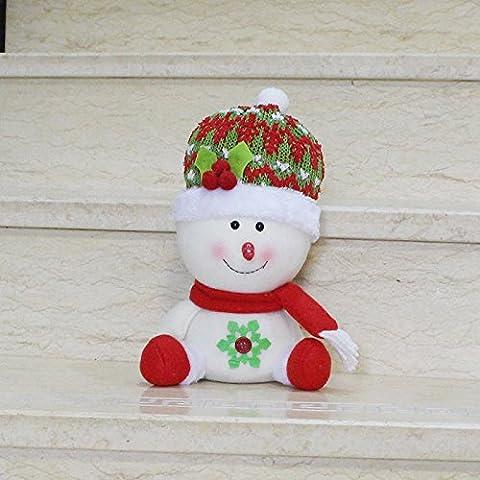 KMDJ seduta deer nuovo pupazzo figurina Ornamenti natale Santa regalo di Natale ornamento di Natale,pupazzo di neve