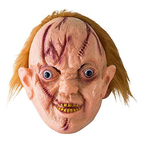 Geist Sache Kostüm 1 - ENticerowts Halloweenmaske, gruselig, ekelhaft, umweltfreundlich, ungiftig, Vinyl, blutiger Geist, Zungenmaske, Kostüm, Party-Requisiten 1