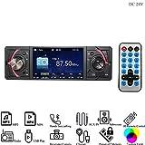 Hi-azul Autoradio, 1 Din In-Dash Car Stereo DC 24V Car Radio AUX Audio Player mit mit 4,1 Zoll TFT Bildschirm Unterstützen Bluetooth, FM Radio, USB/SD, Rückfahrkamera Verbindung (für 24V Fahrzeuge)