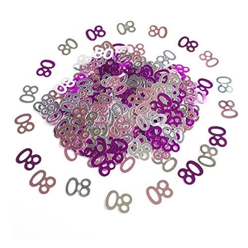 Gifts 4 All Occasions Limited SHATCHI-613 - Confeti de papel de aluminio rosa para fiesta de 80 cumpleaños