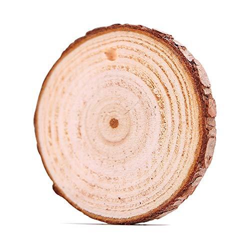 nger, MuSheng Holzscheiben 10 Stücke Holz Scheiben 6cm DIY Handwerk Holz-Scheiben Hochzeit Mittelstücke Weihnachten Dekoration Baumscheibe (Gelb) ()