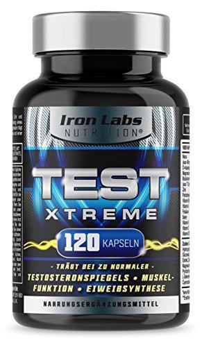 TEST XTREME® - Hardcore Booster für Männer mit Aminosäuren, Zink & Vitamin D für Testosteron & Muskelfunktion | 120 Kapseln -