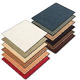 Floori® Sisal Kratzteppich | Naturfaser: nachhaltig und umweltfreundlich | Dunkelbraun, 100x100cm - 4