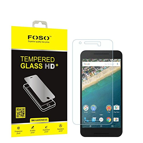 FOSO(™) Huawei Nexus 6P 2.5D Curved Edge 9H Hardness Toughened...