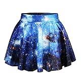 CICIYONER Damen Tüllrock Frauen Kleid Ball-Rock beiläufige Stern Aufflackern elastische hohe Taillen Mode