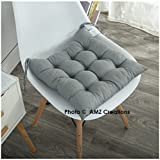 #10: AMZ Premium Microfibre Chair Pad Cushion for Indoor/Outdoor/Dining/Home/Office/Garden Decor, 15x15inches (Grey)