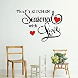 Yingwei this kitchen is seasoned with love Quote Lettering Decal Sticker Home Decor Wall art Saying