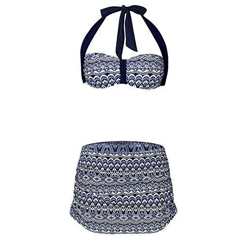 FeelinGirl Damen One Shoulder Badeanzug - Einteiliger Mit Asymmetrischer Schulter Einteilige Gaze Badebekleidung Bikini Set L (Gaze Petite)