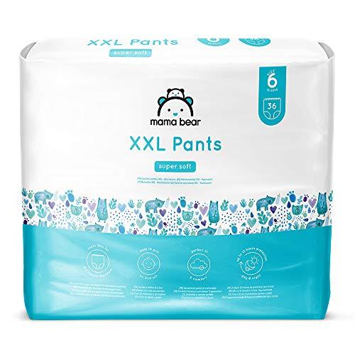 Amazon-Marke: Mama Bear Höschenwindeln XXL  - Gr. 6 (18-30kg), 2er-pack (2x36 Stück)